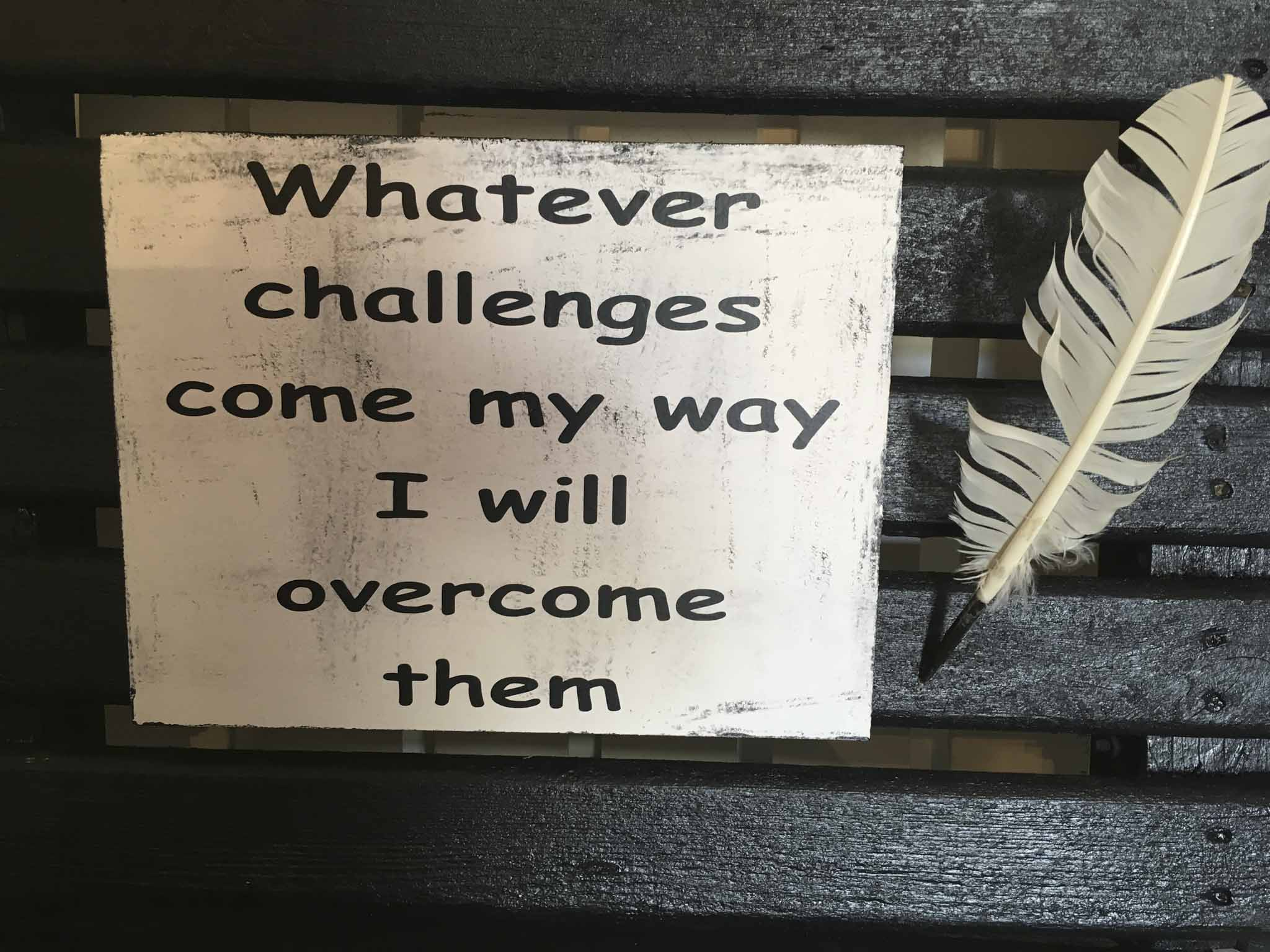 Whatever Challenges Come My Way I Will Overcome Them